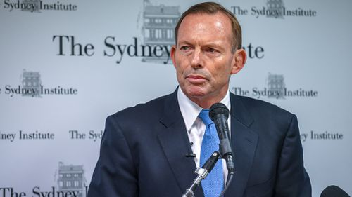 Former Prime Minister Tony Abbott gave a speech at the Sydney Institute last night calling for Australia's migrant intake to be cut from 190,000 per year to 110,000 (AAP).