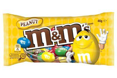 10 M&M's peanut chocolates are 100 calories