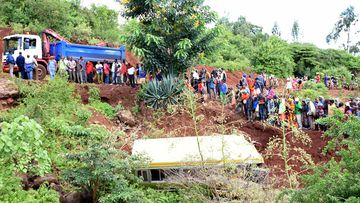 At least 29 schoolchildren have died after their bus plunged into a gorge. (AFP)