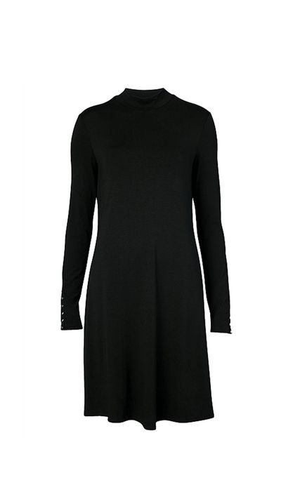 "<a href=""http://www.witchery.com.au/shop/woman/clothing/dresses/60180483/High-Neck-Swing-Dress.html"" target=""_blank"">Dress, $99, Witchery</a>"