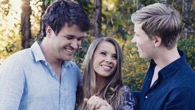 Chandler Powell, Bindi and Robert Irwin