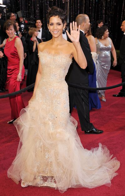 Halle Berry in Marchesa at the 2011 Academy Awards in Los Angeles