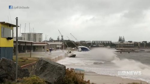 Tides were a metre higher than predicted. (9NEWS)