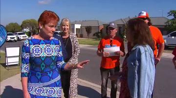 Pauline Hanson confronting Labor MP Anne Aly