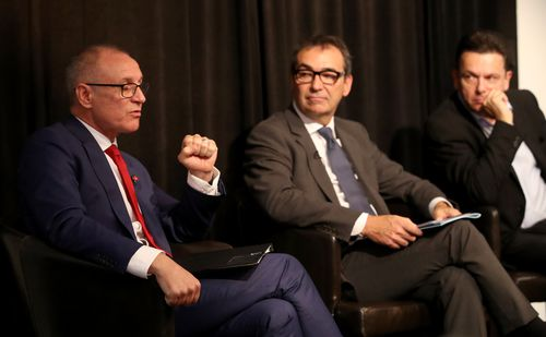 The report is expected to impact the upcoming South Australia election. Pictures are Premier Jay Weatherill (left), opposition leader Steven Marshall and independent Nick Xenophon. (AAP)