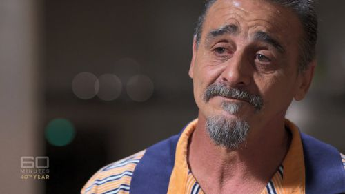 """Carl Orne lived at Daruk Boys' Home in the 1970s. He alleges that during his time there Mr Wright plied him with alcohol and raped him, telling him """"I only do this because I love you"""". Picture: 60 Minutes"""