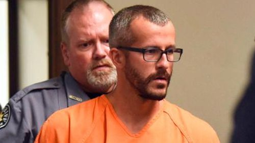 Christopher Watts is escorted into the courtroom before his bond hearing at the Weld County Courthouse.