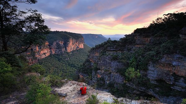 Spectacular vistas at the Blue Mountains