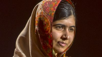 "Nobel Peace Prize winner Malala Yousafzai: <br> <br>""I am heartbroken by this senseless and cold blooded act of terror in Peshawar that is unfolding before us. Innocent children in their school have no place in horror such as this."" (Getty Images)"