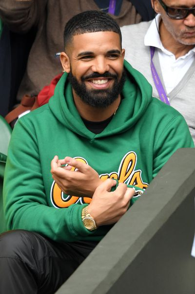 Rapper Drake at Wimbledon 2018