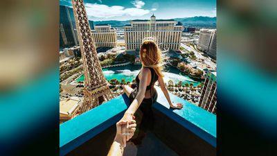 Their honeymoon also took the pair to Las Vegas. (muradosmann, Instagram)