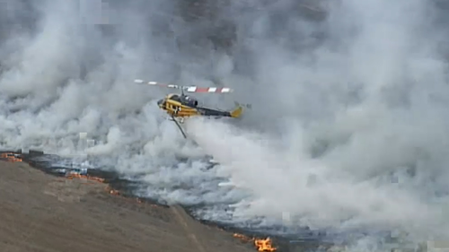 Aerial support was called in to fight the fires.