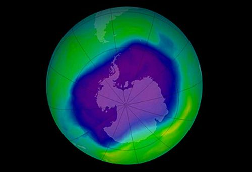 Image of ozone layer hole over Antartica (Getty)