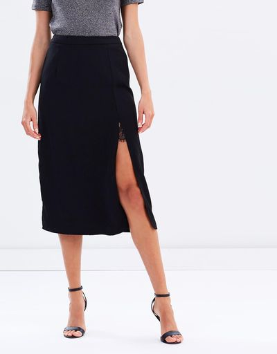 """<a href=""""https://www.theiconic.com.au/bellatrix-sheer-lace-layered-skirt-476547.html"""" target=""""_blank"""" draggable=""""false"""">Atmos & HereBellatrix Sheer Lace Layered Skirt in Black, $34.98</a><br>"""