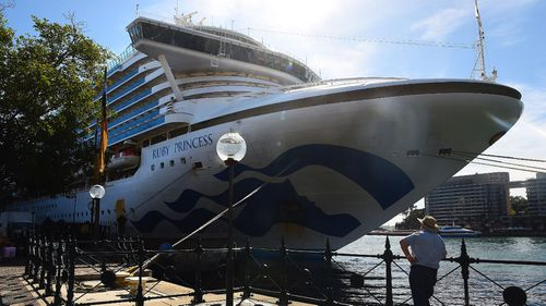 The Ruby Princess in Sydney this week.