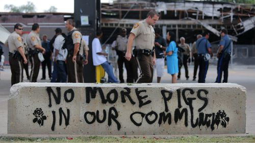Tensions between police and the Ferguson community remain on a hair-trigger. (AAP)