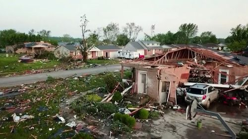 Ohio bore the brunt of the tornadoes, with at least one man dead.