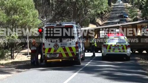 Four people were treated by paramedics at the scene. (9NEWS)