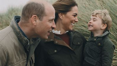 Prince William and Kate Middleton with Prince Louis