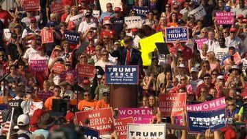 'Phoney low-lifes': Donald Trump targets media at Florida rally