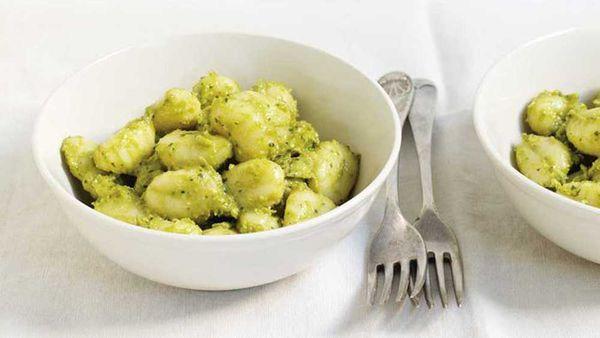 """Recipe:&nbsp;<a href=""""http://kitchen.nine.com.au/2017/08/10/16/55/avocado-pesto-gnocchi"""" target=""""_top"""" draggable=""""false"""">Avocado pesto gnocchi</a>"""