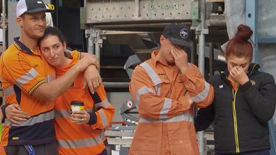 Luke and Jasmin and Jimmy and Tam are emotional after Scott Cam's offer of a 'Block school' on The Block 2020