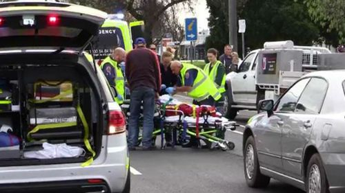 The boy is in a critical condition after he was hit by a car. (9NEWS)