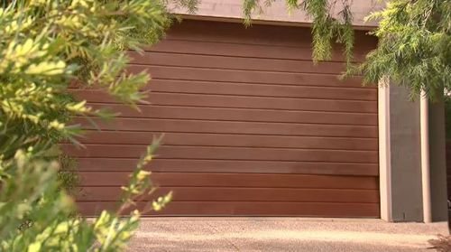 The 38-year-old's body was found inside the garage of her home. Picture: 9NEWS