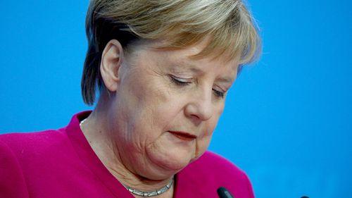 German Chancellor Angela Merkel speaks during a press conference in Berlin.
