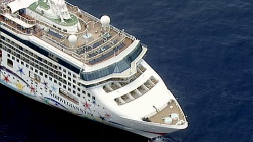 The ship experienced a technical malfunction. (9NEWS)