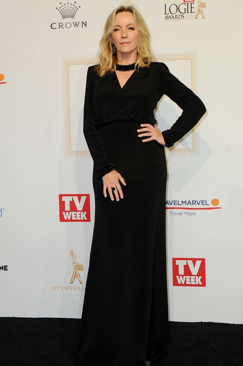 Rebecca Gibney at the 2017 Logie Awards in Melbourne. (AAP)