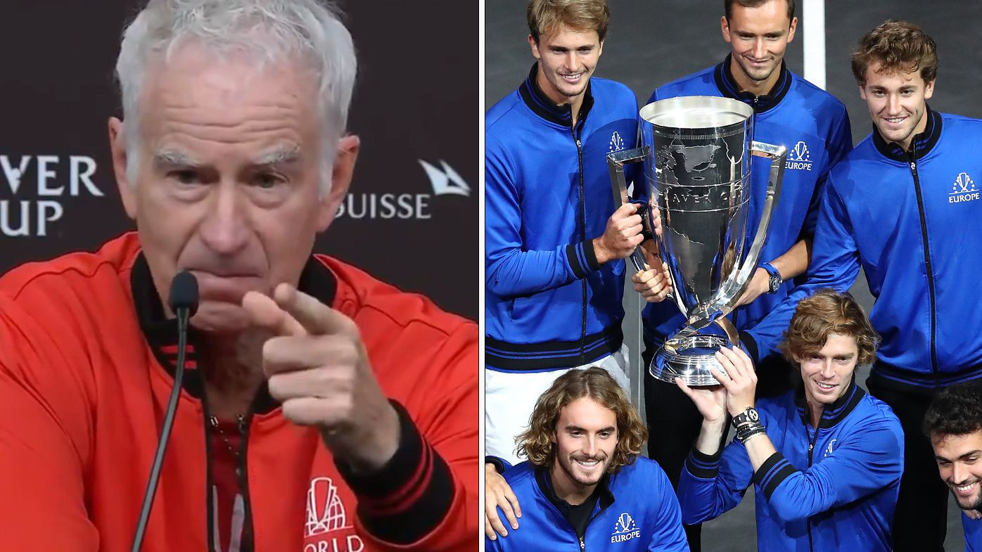 John McEnroe after Team World lost the Laver Cup
