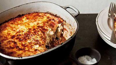 "<a href=""http://kitchen.nine.com.au/2016/05/16/11/23/cheats-moussaka"" target=""_top"">Cheat's moussaka</a> recipe"