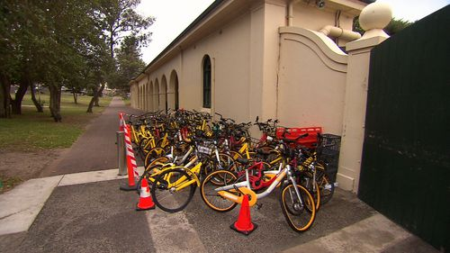 Bike-sharing company Ofo has announced it is shutting down its Australian operations. Picture: 9NEWS
