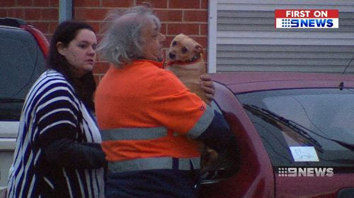 Alf, his wife, two sons, niece and pet dog all made it out of the home unscathed. Picture: 9NEWS.