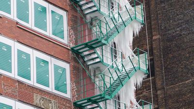 Burst pipe in Chicago apartment creates breathtaking frozen waterfall