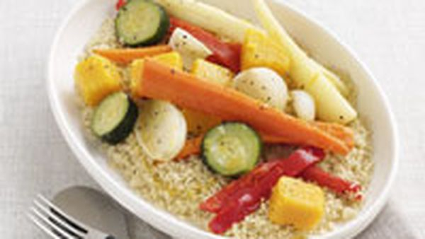 Couscous with cumin-spiced vegetables