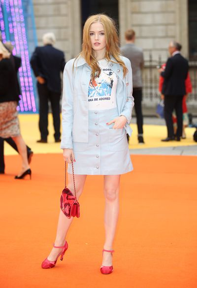 Ellie Bamber in Chanelat the Royal Academy of Arts summer exhibition.