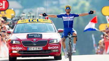 Frenchman claims first Tour stage win
