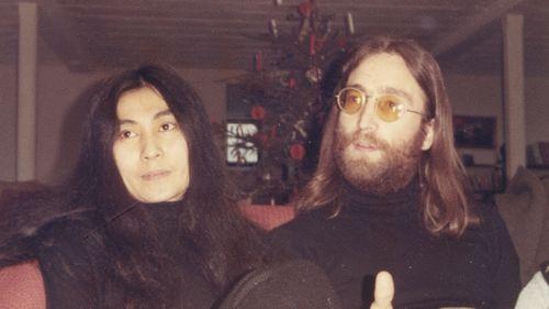 John Lennon and Yoko Ono in Thy, northern Denmark, Jan. 5, 1970.