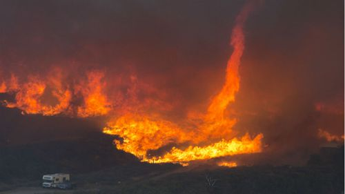 More than 80,000 people have been evacuated. (9NEWS)