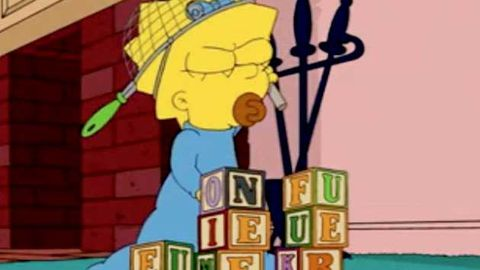 Did Maggie Simpson hide a naughty message in her toys?
