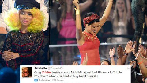 2012 MTV VMAs: Nicki Minaj tells Rihanna to 'sit the f---- down'