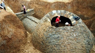 A Chinese developer decided a modern temple to capitalism was a worthy replacement for a number of ancient tombs, bulldozing the precious buildings to make way for an IKEA in Nanjing in 2007. The tombs dated from the Six Dynasties period (220-589CE). The Chinese government levies heavy fines for people caught desecrating or destroying historical tombs, but developers often ignore the laws rather than delay construction. (AAP)