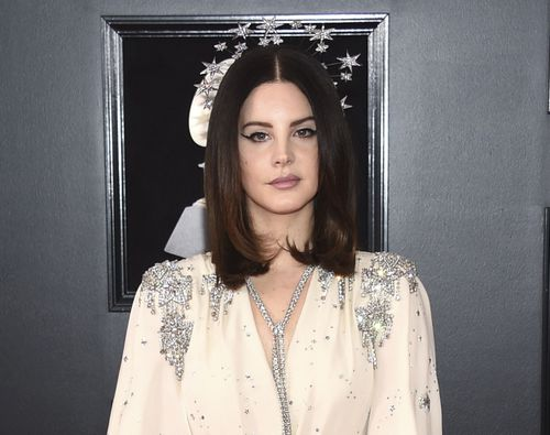 Lana Del Rey arriving at the 60th annual Grammy Awards in New York last month. (AAP)