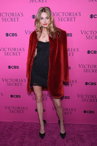 Roosmarijn de Kok at the Victoria's Secret viewing party in New York.