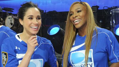 Meghan Markle with Serena Williams
