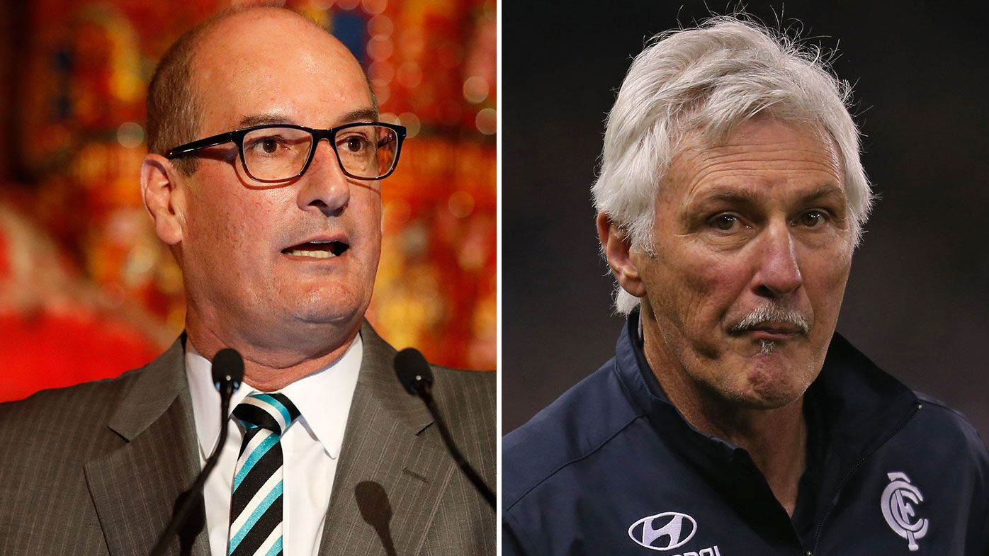 David Koch called on to apologise to Mick Malthouse over 'White Australia' barb