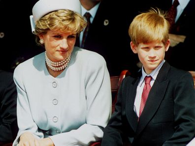 Princess Diana with Prince Harry, 1995.
