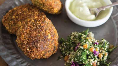 "Recipe: <a href=""http://kitchen.nine.com.au/2016/10/26/11/47/falafels-with-tahini-yogurt"" target=""_top"">Homemade falafels with tahini yogurt</a>"